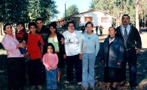 José Humberto Bustamante Ortiz junto a toda su familia